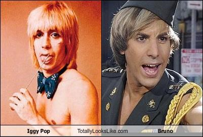actors bruno comedians iggy pop musicians sacha baron cohen - 4601625856
