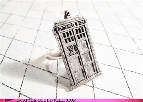 cool accessories doctor who ring of the day rings - 4601700352
