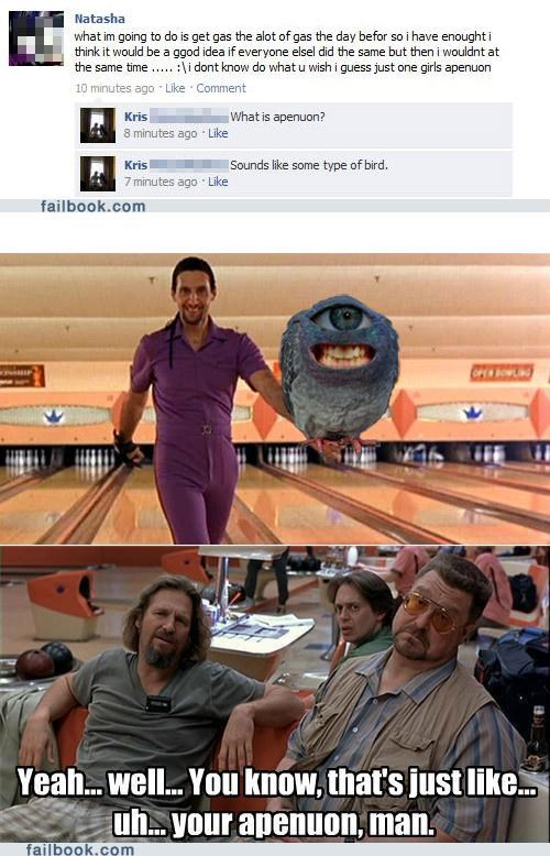 lebowski,spelling,Witch Your Spelling,your friends are laughing at you