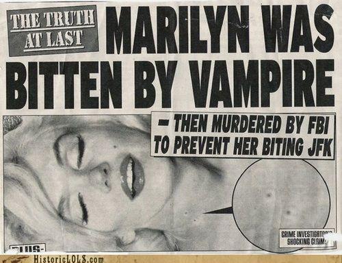funny,marilyn monroe,news,vampire