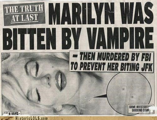funny marilyn monroe news vampire - 4601920768
