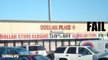 50-off dollar store failboat g rated math is too hard really sale sign - 4602074624