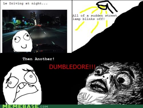 dumbledore Harry Potter streetlights - 4602118144