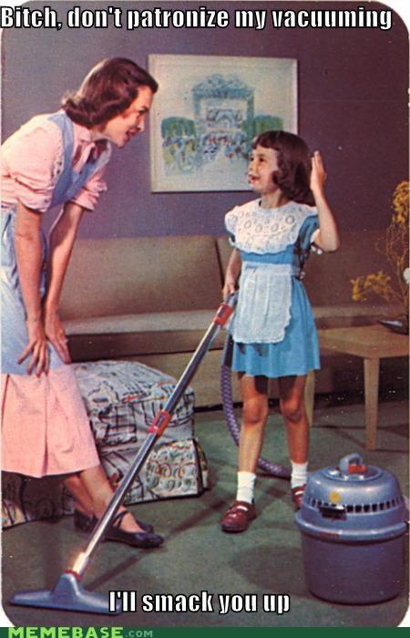 50s,chores,housework,vacuum