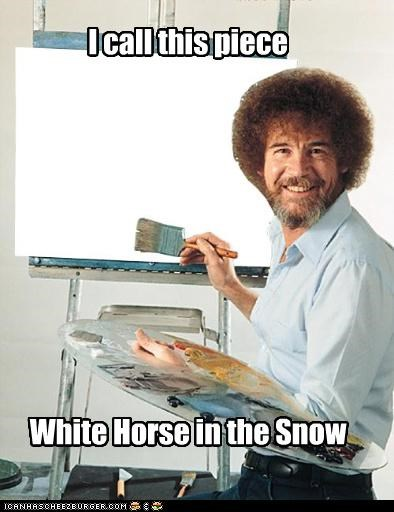 happy little horse,happy little snow