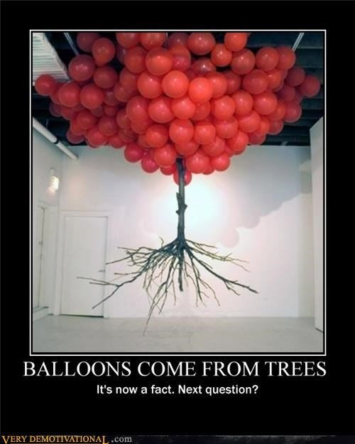 art,Balloons,fact,tree