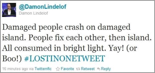 damon lindelof,lost,tweet