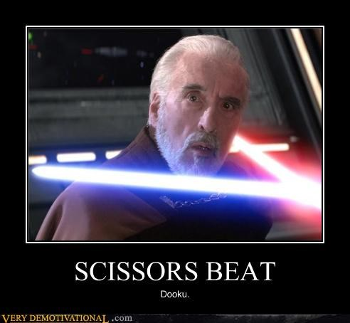 SCISSORS BEAT Dooku.