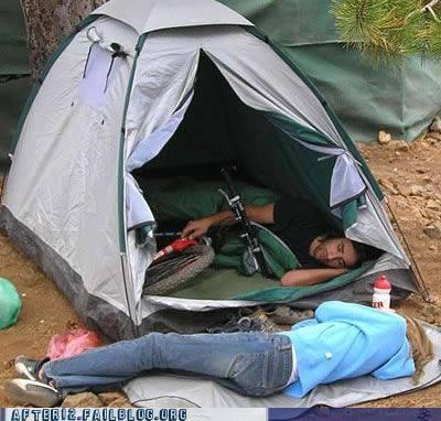 bike drunk outdoors passed out tent - 4602733056