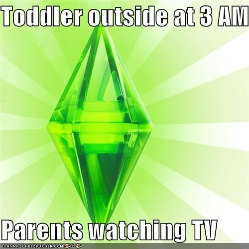 3am Sims toddler TV video game - 4602772480