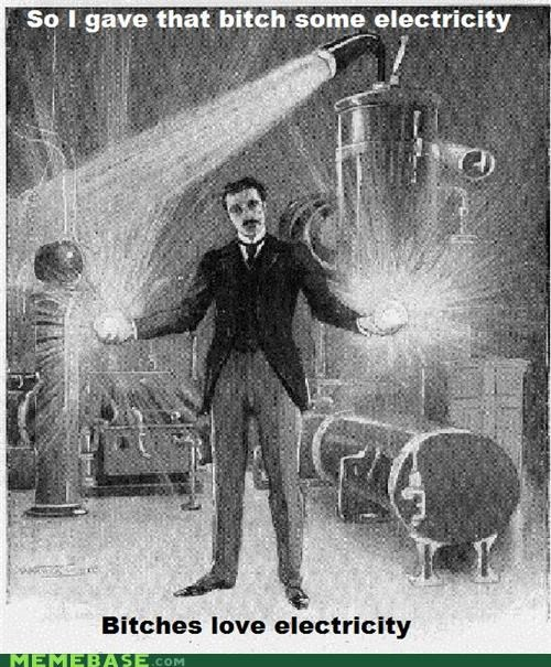 accidentally learning electricity Nikola Tesla tesla tesla coil tesla roadster tesla-the-terrible-80s-band - 4602817792