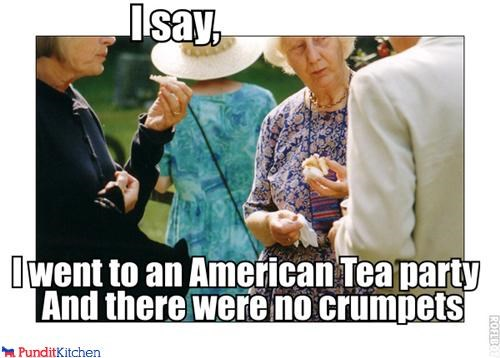 political pictures Queen Elizabeth II tea party - 4602943232