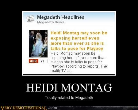 Heidi Montag megadeth totally related - 4603004160