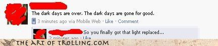 dark days facebook gone light lyrics
