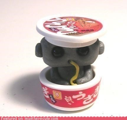 bowl eat noodle ramen robot sculpture - 4603861248