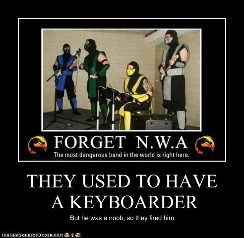 THEY USED TO HAVE A KEYBOARDER But he was a noob, so they fired him