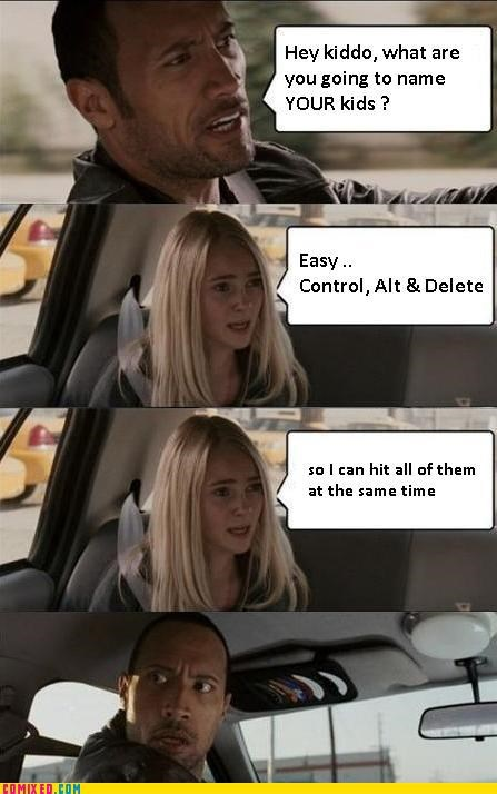 ctrl alt del,nerd,the rock