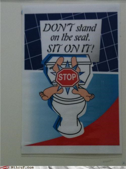 bathroom sign sit standing toilet wtf - 4604318976