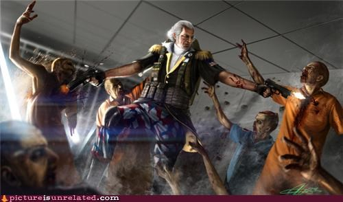 awesome george washington zombie - 4604357120