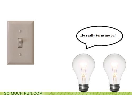 bulb,double meaning,light,light switch,lightbulb,literalism,switch,turns on