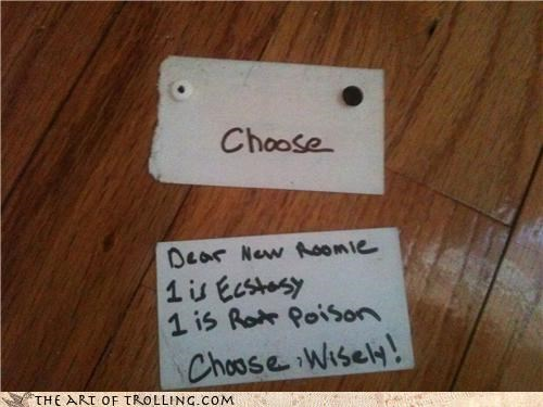 choose wisely ecstasy IRL jigsaw live or die movies rat poison roommate saw