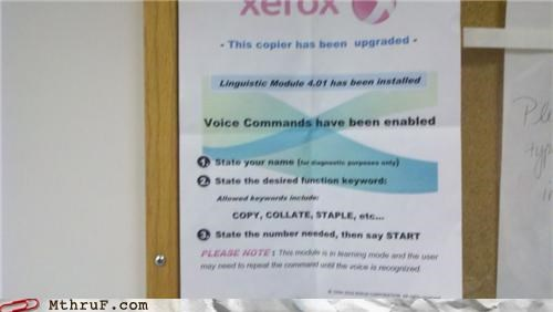 april fools,Command,copier,prank,sign,voice,xerox