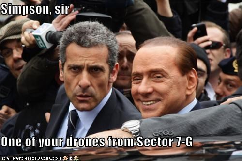 political pictures silvio berlusconi the simpsons - 4605253632