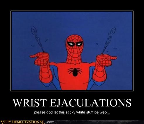 ejaculations,Spider-Man,web,wrist