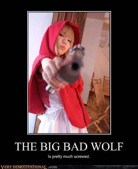 Big Bad Wolf red riding hood - 4605541888