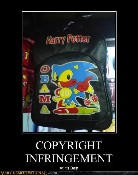 backpack Harry Potter obama sonic - 4605675008