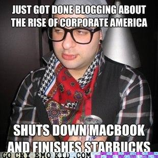 apple blog corporate america hipsterlulz Starbucks