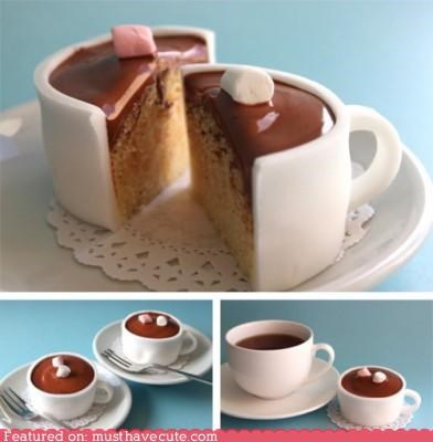 cake,cup,epicute,fondant,frosting,hot chocolate,marshmallows,mug