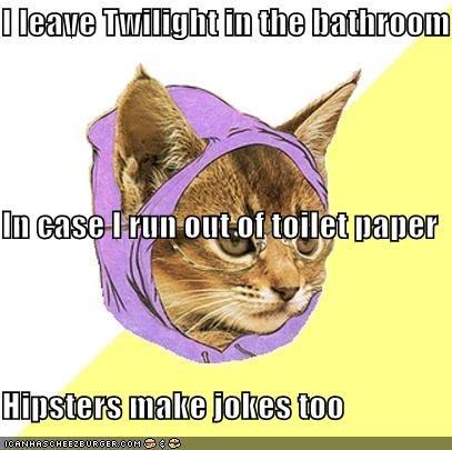 bathroom Hipster Kitty jokes toilet paper twilight - 4605796352