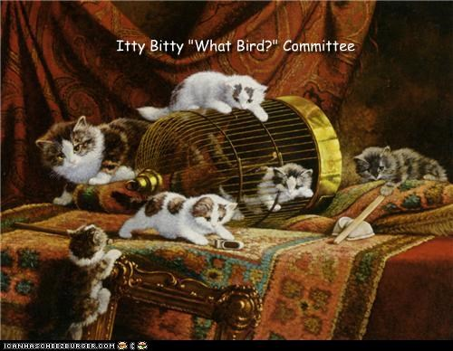 animal art cat cute funny painting - 4605858048