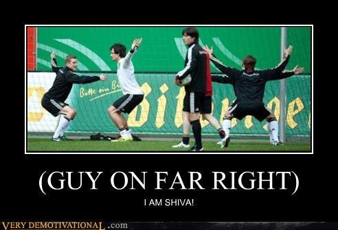 (GUY ON FAR RIGHT) I AM SHIVA!