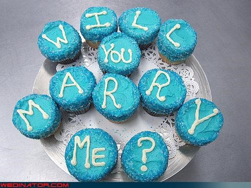 cupcakes funny wedding photos proposal - 4606096896