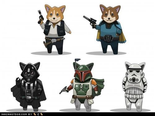 comic,corgi,corgis,drawing,interpretation,star wars