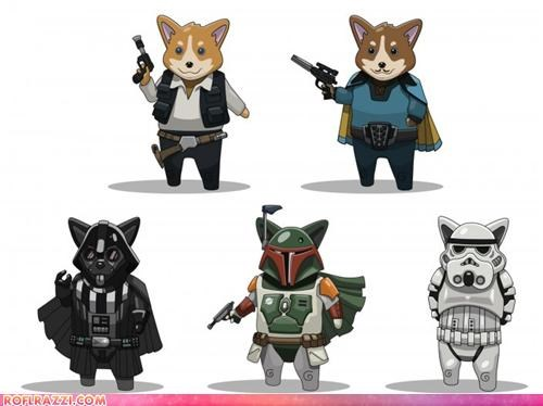 art corgi dogs funny Hall of Fame sci fi star wars - 4606242816