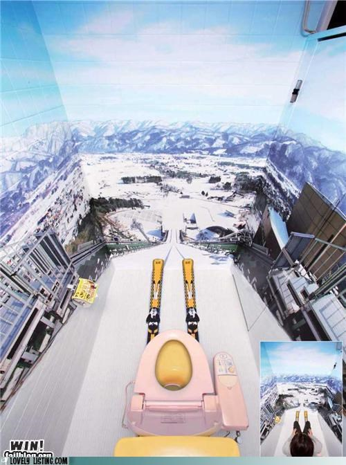 bathroom,murals,scary,Ski Jump,walls,win