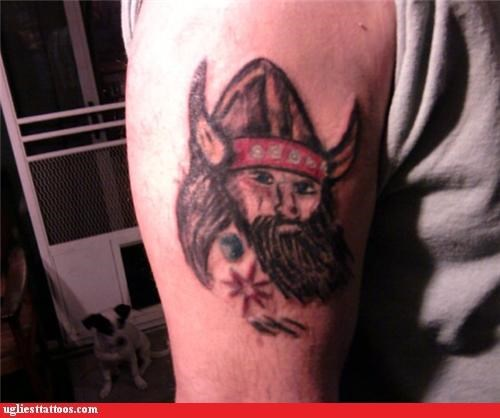 bad,tattoos,viking,funny