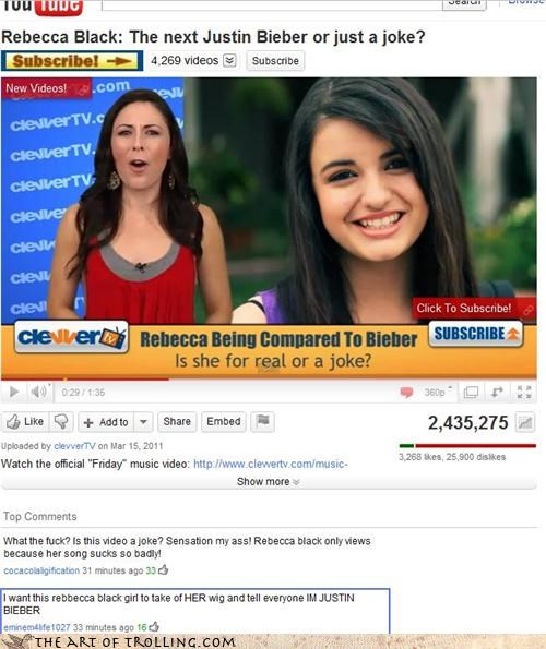 FRIDAY,knowledge,Rebecca Black,youtube