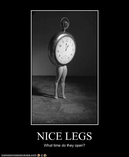 NICE LEGS What time do they open?