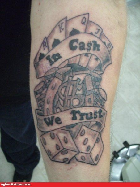 bad cash tattoos funny - 4607396864