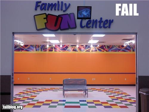 Fun Zone Fail This WAS an arcade but all the games had been removed leaving nothing fun about it