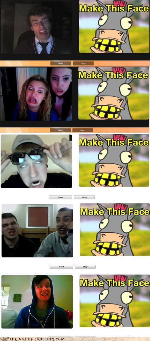 amazing horse face,Chat Roulette,derp,webcam