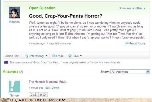 films hannah montana horror Yahoo Answer Fails - 4607742720
