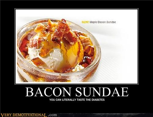 bacon,diabetes,ice cream,sundae