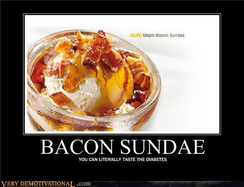 bacon diabetes ice cream sundae