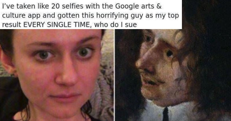 People are sharing their results from the Google Arts and Culture app and it's absolutely hilarious.