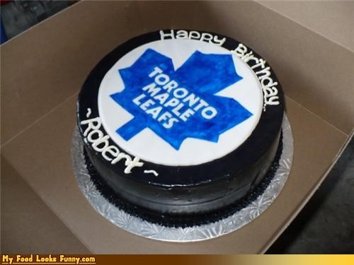 cake hockey puck toronto maple leafs - 4608124928